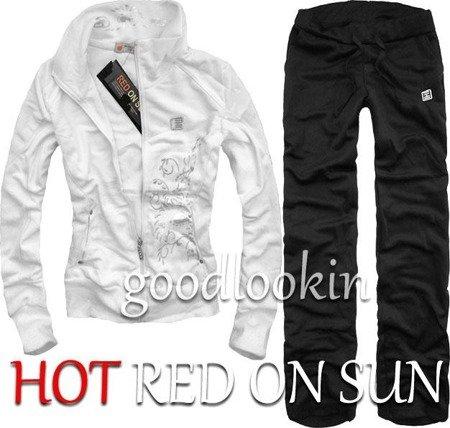 BIAŁY DRES SPORTOWY HOT RED ON SUN (132)