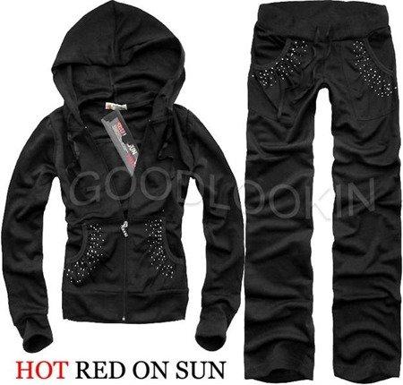 CZARNY DRES HOT RED ON SUN (158)